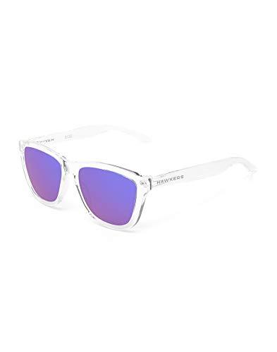 HAWKERS Gafas de Sol, Transparente/Morado, One Size Unisex Adulto