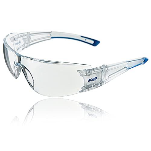 Dräger X-pect 8330 Gafas de Seguridad   Lentes de protección Rayos UV antivaho  Dieléctricas para ambientes de Alto Voltaje (1 gafa)