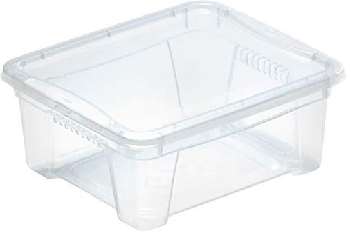 M Home Caja de Almacenaje Space Box 1, Translúcido, 1.9 litros