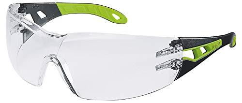 Uvex Pheos Gafas de Seguridad Trasparentes - Protección de los Ojos - Revestimiento Antivaho - Resistente a los Arañazos - Cómodo y Antideslizante