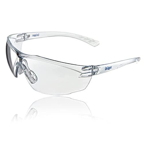 Dräger X-pect 8320 Gafas de Seguridad   Lentes de protección Rayos UV antivaho  Ultraligeras para un Uso intensivo   para Industria, Deporte, Laboratorio