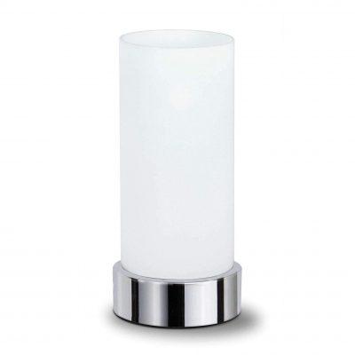 lámpara transparente de mesa translúcida