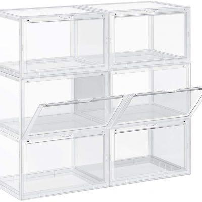 caja transparente de almacenamiento organizador transparente