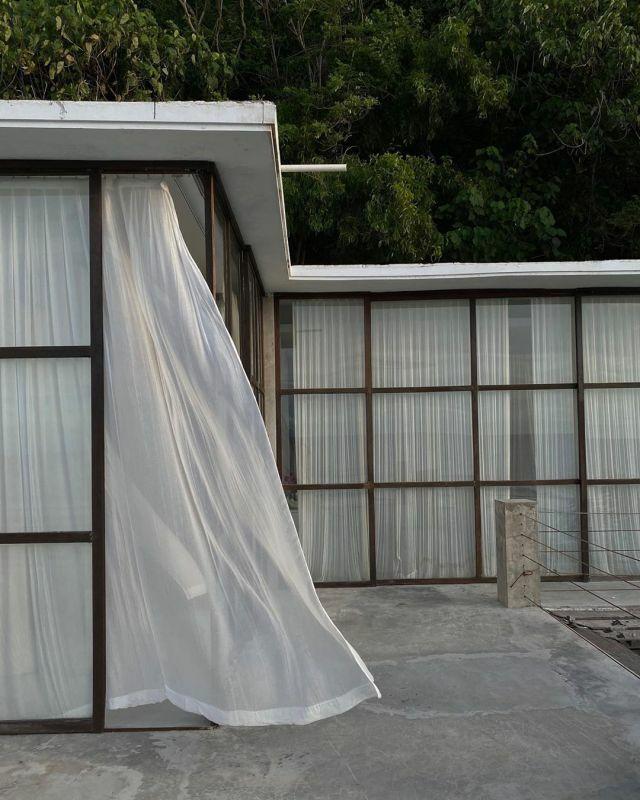 cortinas translúcidas dormitorio moderno transparentes