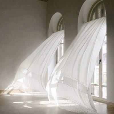 Cortinas transparentes blancas translucidas cortinas salón