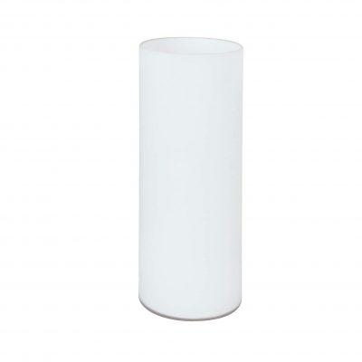 lámpara de mesa transparente blanca papel