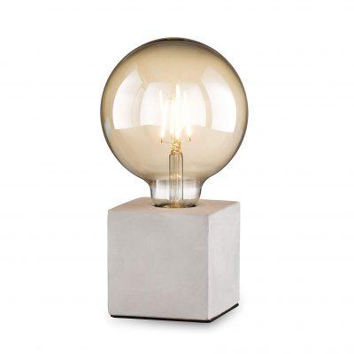 lámpara transparente de mesa hormigón