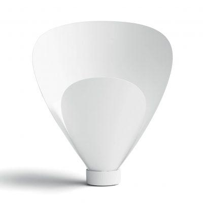 lámpara transparente de mesa moderna blanca eco vidrio cristal