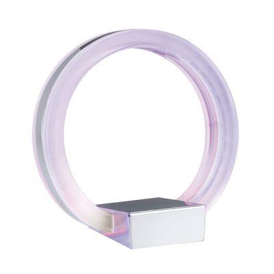 Lámpara transparente de mesa moderna circular
