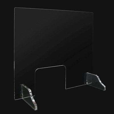 mampara transparente oficina mostrador de protección