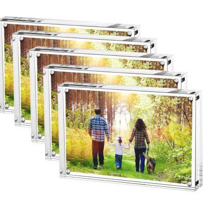 marco de fotos transparente acrílico de cristal para pared