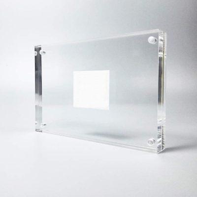 marco transparente cristal metacrilato moderno acrílico