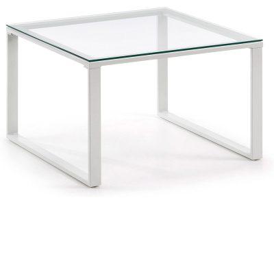 mesa transparente cristal moderna centro
