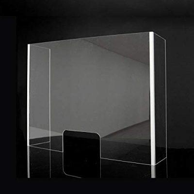 pantalla transparente de protección oficina mostrador de tienda