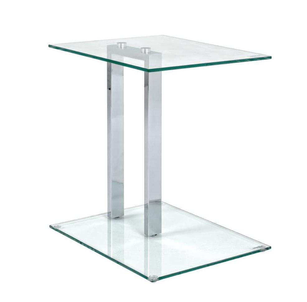 Mesa auxiliar transparente de vidrio templado para dormitorio oficina habitación comedor salón baño diseño moderno tienda online de artículos transparentes