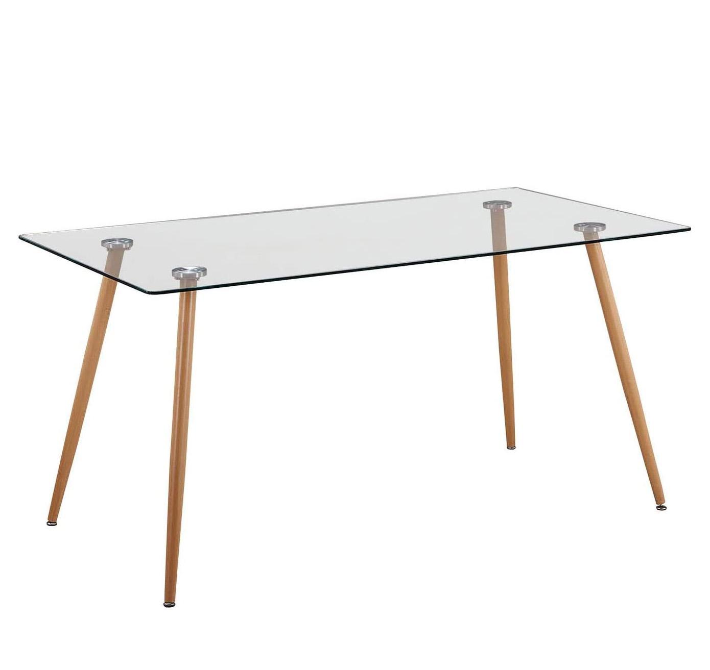Mesas transparentes de cristal para comedor y salón estilo escandinavo moderno tienda de artículos transparentes online