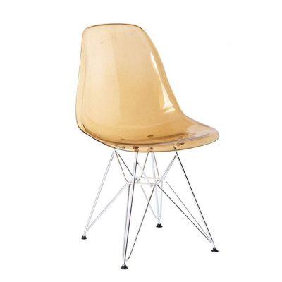 Silla transparente de cocina de policarbonato sillas transparentes patas de metal tienda online de artículos transparentes