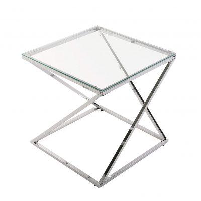 Mesas transparentes de rincón auxiliar para dormitorio salón comedor baño diseño moderno tienda online de artículos transparentes