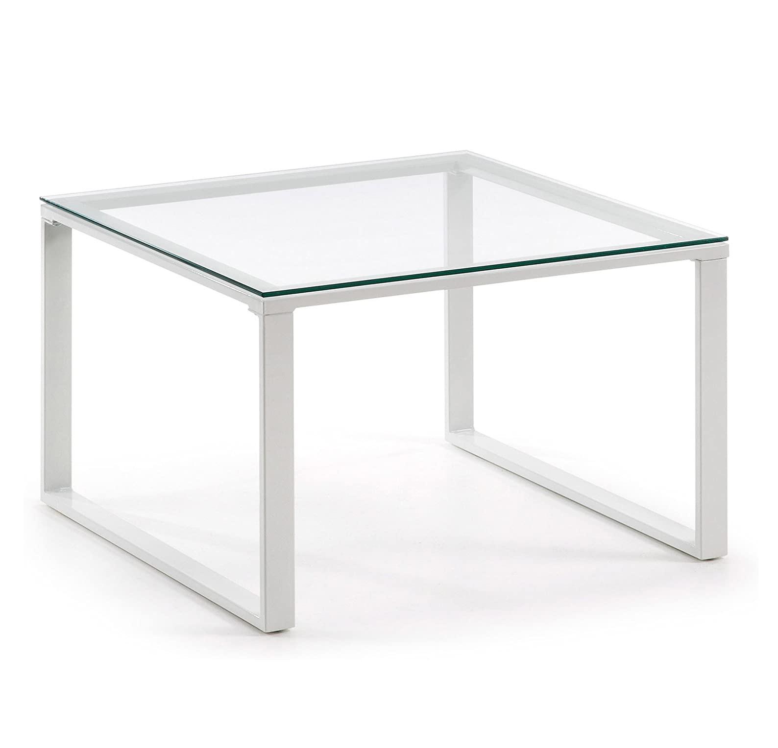 Mesas Transparentes de centro para comedor y salón de cristal tienda de artículos transparentes online estructura metálica