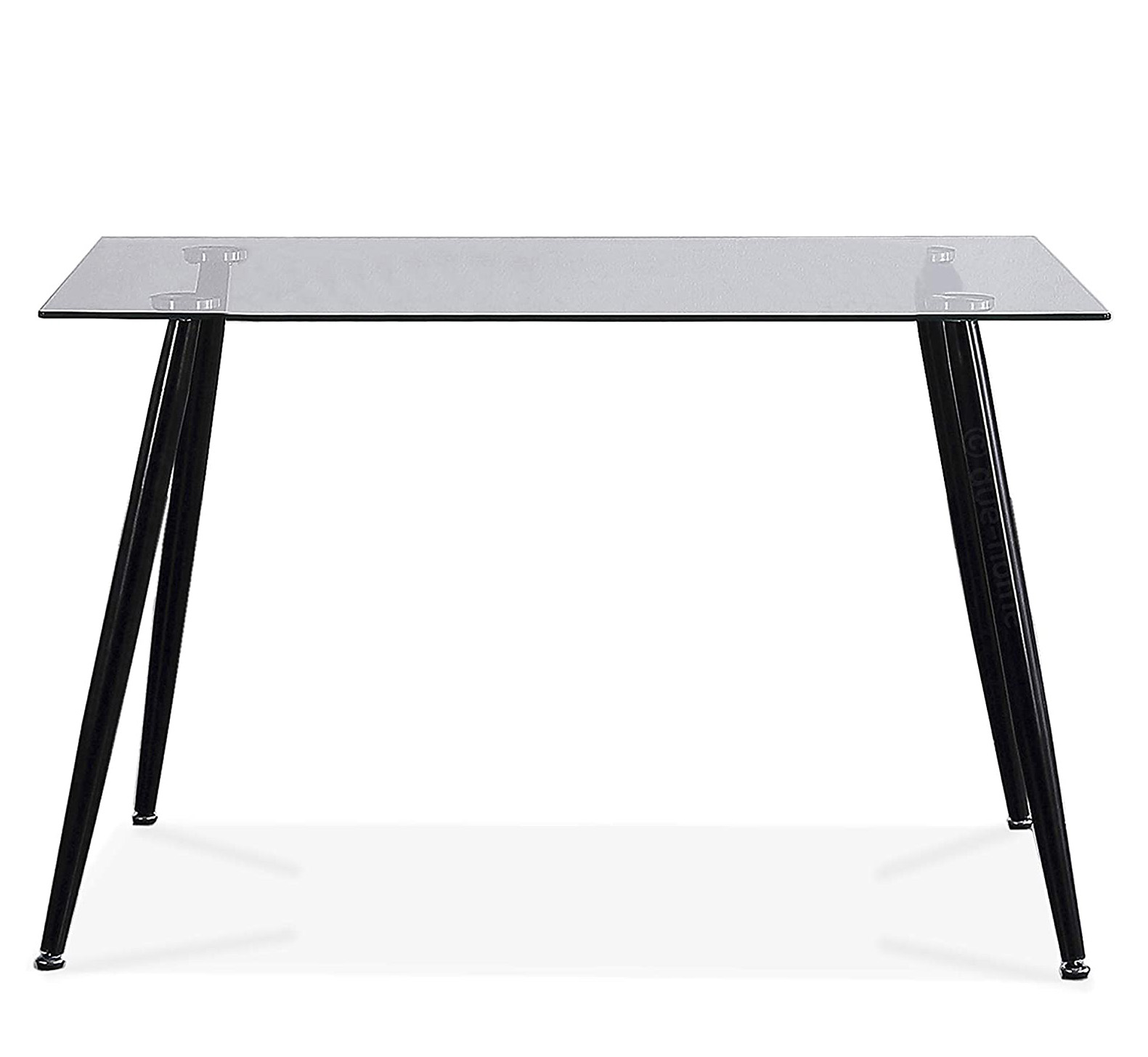 Mesa transparente escandinava de cristal para comedor oficina cocina salón moderna y barata tienda online de artículos transparentes