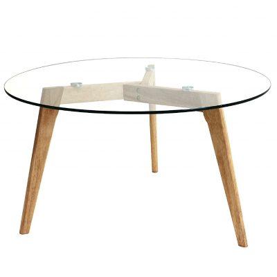 Mesas transparentes redonda de cristal de centro para comedor tienda online de artículos transparentes