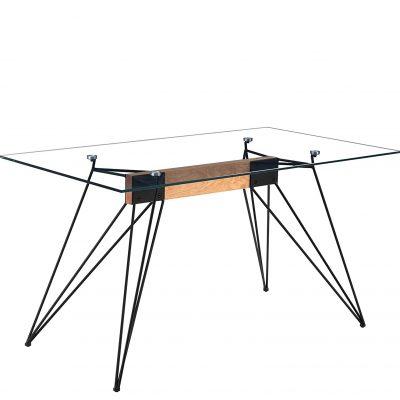 Mesa transparente escandinava de cristal para comedor y cocina oficina tienda de artículos online