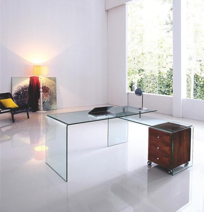 Mesa transparente de oficina despacho y escritorio tienda online
