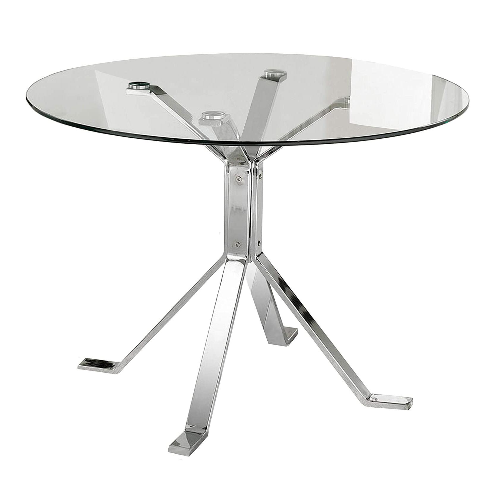 mesa transparente de comedor de centro auxiliar de cristal y metal tienda online de artículos transparentes