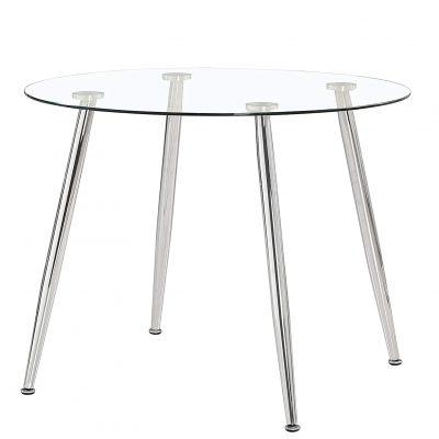 Mesas transparentes de salón comedor suecia de diseño tienda de artículos transparentes con estructura metálica barata