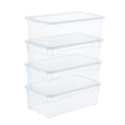 almacenamiento transparente de plástico organizador cajas transparentes tienda online de artículos transparentes
