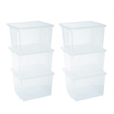 almacenamiento transparente cajas transparentes plástico tienda de artículos transparentes online organizador de plástico transparentes