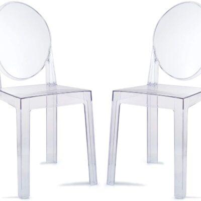 sillas transparentes de metacrilato baratas para comedor oficina y despacho
