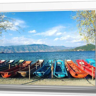Marco de fotos transparente acrilico para fotos magnetico