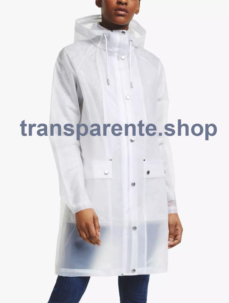 Chubasquero transparente impermeable para lluvia