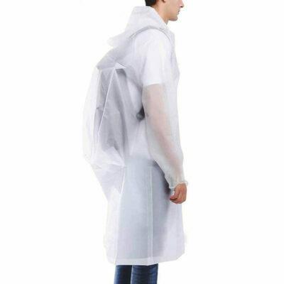 chubasquero impermeable transparente para lluvia reutilizable hombre mujer unisex
