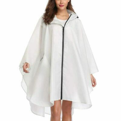chubasquero poncho transparente con capucha para la lluvia