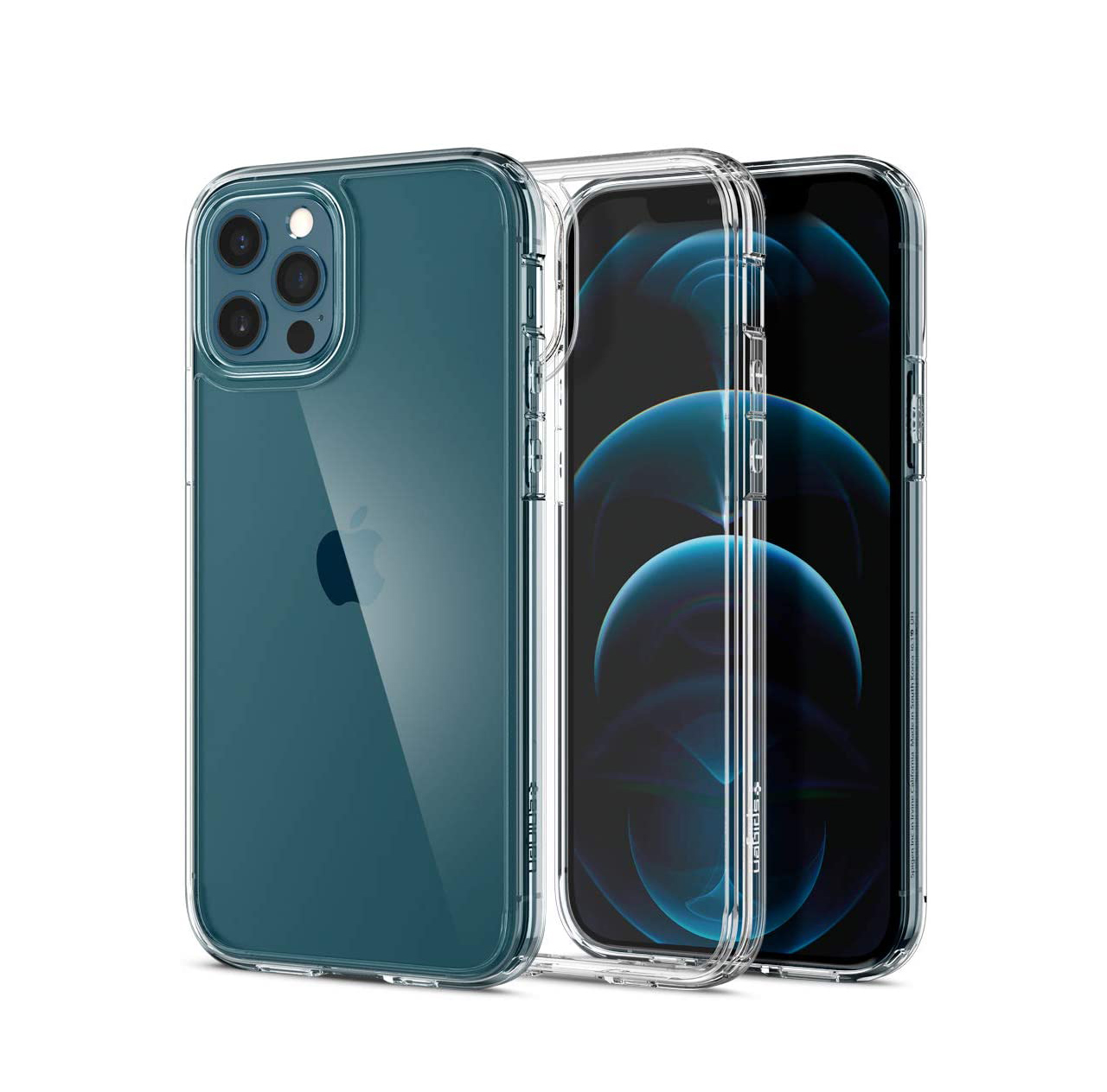 funda transparente iphone 12 de plastico