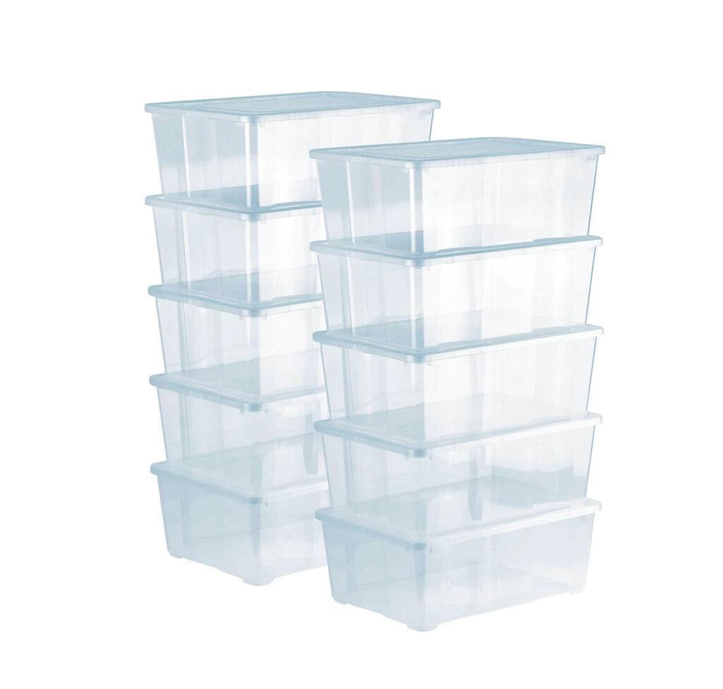 caja transparente de plastico