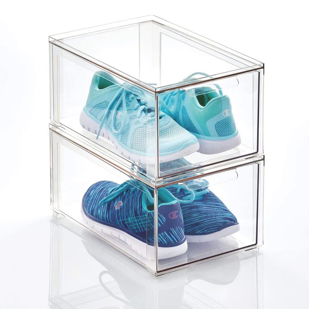 caja transparente de zapatos