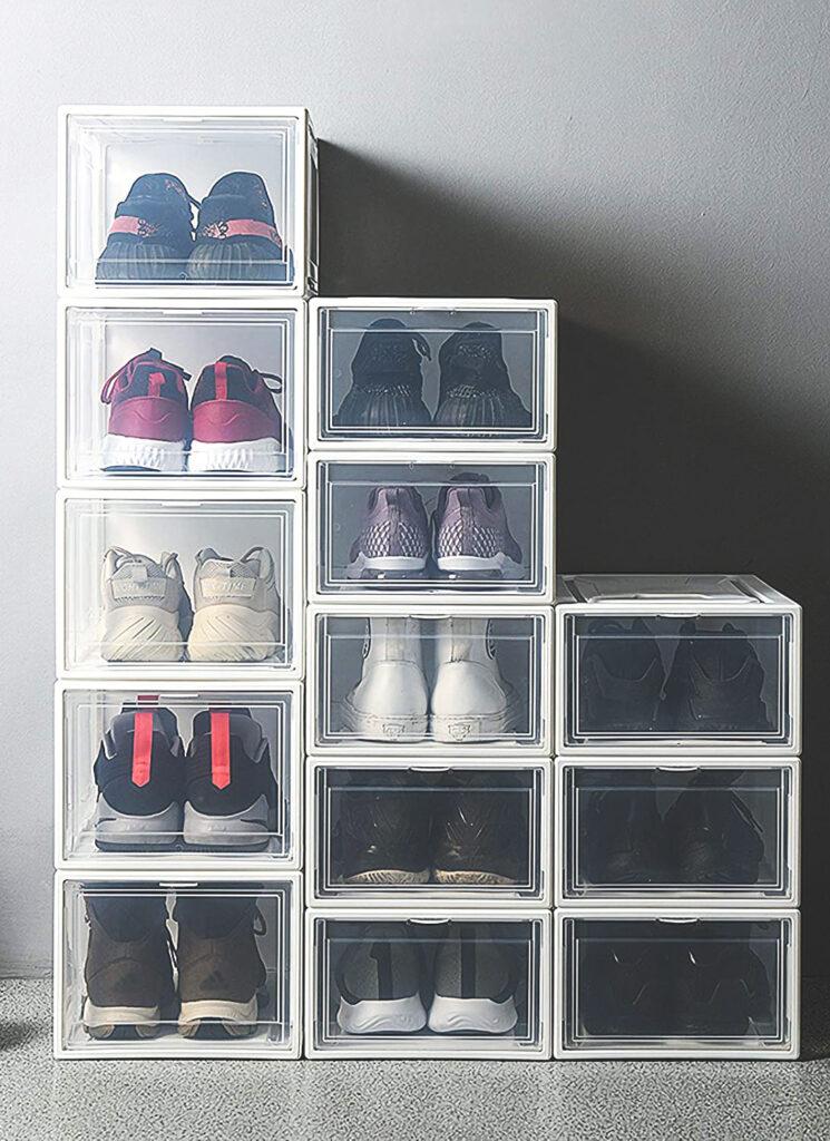 cajas transparentes de zapatos