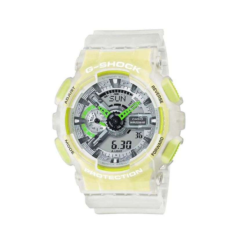 reloj digital transparente