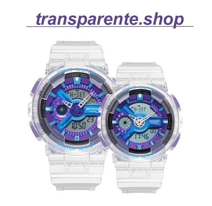 reloj transparente analogico barato