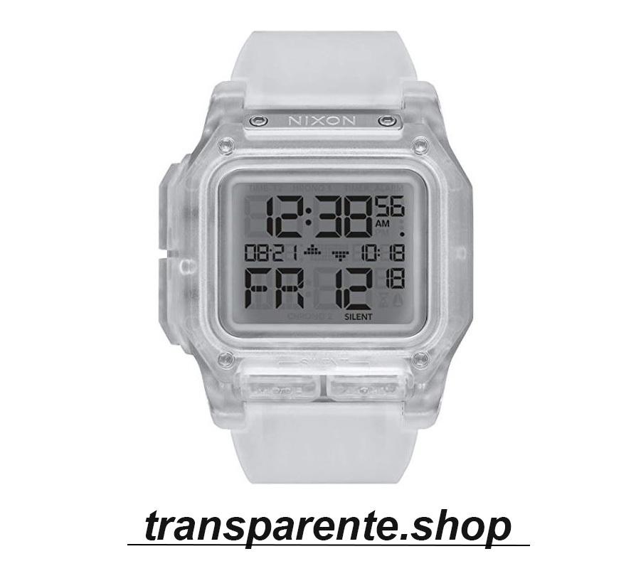 relojes transparentes digital