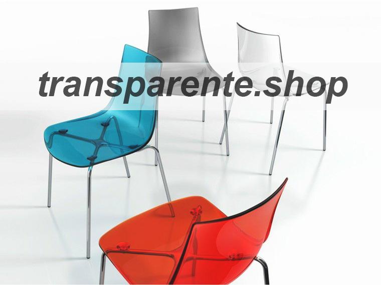 sillas transparentes de colores
