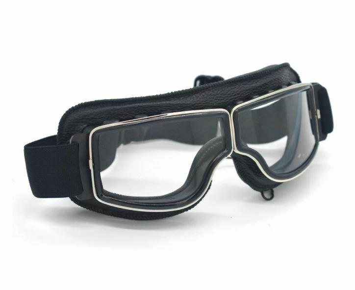 gafas transparentes de moto clasicas motero old school
